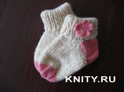 Вяжем носочки для малыша
