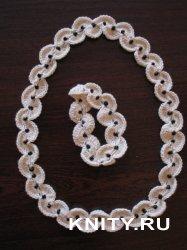 Вязаное украшение: Колье и браслет